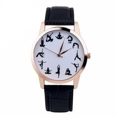 Superior New YOGA Girl Printed Pattern 3 Color Faux Leather Band Quartz Vogue Wrist Watch relogio feminino Gift Oct 25 * Modern Watches, Stylish Watches, Casual Watches, Women's Watches, Luxury Watches, Web Design, Yoga Strap, Yoga Accessories, Watch Accessories