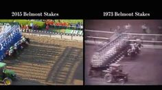 The Wall Street Journal has put together a cool split screen video comparing American Pharoah's Triple Crown winning Belmont race to Secretariat's historic Belmont victory in 1973.