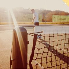 Tennis at golden hour