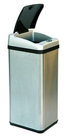 iTouchless 13 Gallon Rectangular Extra-Wide Stainless Steel Automatic Sensor Touchless Trash Can - While you are cutting, cooking, washing, feeding your kids, or juggling tasks at the office, you will need a quick way to dispose your trash along the way. You are busy and you need a smarter trash can to share some of the loads for you, well, iTouchless Sensor Trash Can is here to help.The built-in infrared sensor allows the lid to open when your hand or any object approaches within 6 inches…