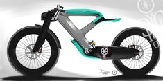 The Cycleton One is an electric motorcycle concept with the minimal silhouette of a bicycle.