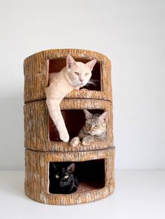 Cat House Tree Trump Cat Condo by SAYSCULPTURES on Etsy, $369.00