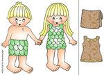Adam and Eve paper doll cutouts