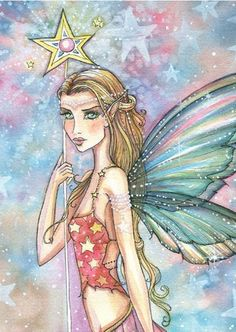 Fairy Art: star player close up by Artist Molly Harrison