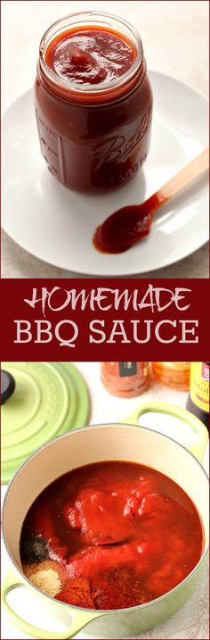 Homemade BBQ Sauce - sweet and smoky barbecue sauce that will take your ribs, grilled chicken or wings, pulled pork or steak to the next level!