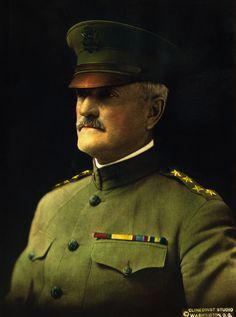 Army general John J. Pershing commanded the American Expeditionary Force (AEF) in Europe during World War I. Ww1 History, Military History, Black History, Ww1 Soldiers, Wwi, Jose Rizal, Military Police, United States Army, Modern Warfare