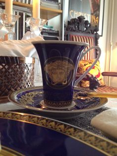 My Versace Home Barocco Blue cup