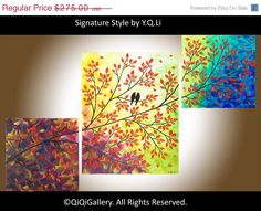 40 Art Abstract Painting Original Impasto acrylic by QiQiGallery, $233.75