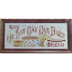 GIVE Us THIS DAY Vintage Stamped Cross Stitch Kit Belgian Linen Mid Century by NeedleLittleTherapy on Etsy Cross Stitch Material, Cross Stitch Kits, Cross Stitch Patterns, Crewel Embroidery Kits, Embroidery Thread, Vintage Cross Stitches, Our Daily Bread, Cute Packaging, Vintage Stamps