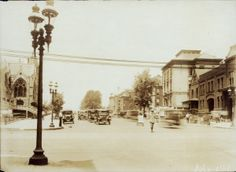 Looking west on Lindell Boulevard from Grand Avenue. (1921) Missouri History Museum