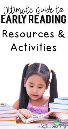 My ultimate guide to early reading activities has a year of kindergarten literacy centers for CVC, sight words, games, and more to teach a child to read.