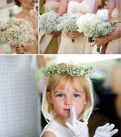 Balunz - Allt för bröllop och fest!: Sno stilen: Brudslöja! <3333333333333 babysbreath and red amaranth for the bridesmaids