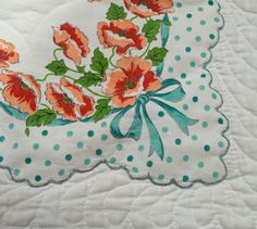 My vintage hankie quilt is finally complete!   I started collecting vintage hankies a year or so ago simply becauseI was so taken with the...