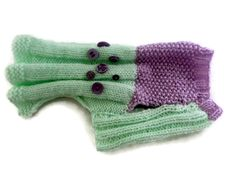 Small  dog clothes knitted Sweaters for Cats and dogs in Mint Green and lilac with scattered purple buttons of all sizes. by CUTIEDOG on Etsy