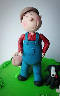 Farmer and his dog - Cake by Elaine Boyle....bakemehappy.ie