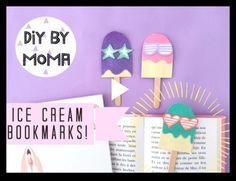 {DIY} Les jolis marque pages Icecream en vidéo! Le Jolie, Diy For Girls, Kids, Marque Page, Lip Stains, Bricolage, Young Children, Children, Kid
