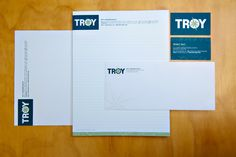 Troy Container Line printed items.