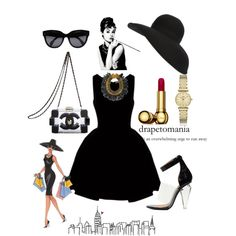 """Audrey Hepburn"" by hind-al-tayeb on Polyvore"