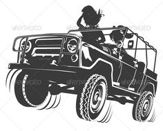 Vector Jeep Silhouette #GraphicRiver Available AI, CDR and EPS vector formats. More transportation illustrations see in my portfolio. Also you can check at my Collections: Vector Cartoon Cars Vector Cartoon Trucks Detailed Vector Cars modern and retro Detailed Vector Trucks Vans Tractors and Pickups Detailed Vector realistic and cartoon styled Buses Vector aircrafts, airplanes, retro, modern, blueprints, silhouettes and aerial backgrouds Detailed vector train illustrations and Detailed 3D…