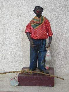 1920s Vargas Wax Doll, New Orleans   Fisherman