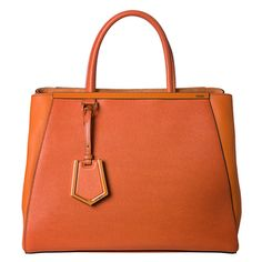 @Overstock - Vintage charm meshes with contemporary updates on this Saffiano and Vitello leather shopper from Fendi. This bag features an enamel bar and trim across the exterior, while the roomy interior is lined with jacquard printed canvas.http://www.overstock.com/Clothing-Shoes/Fendi-Womens-2Jours-Orange-Saffiano-and-Vitello-Leather-Medium-Shopper-Bag/7647606/product.html?CID=214117 $1,699.99