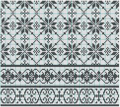 Charts good for either cross-stitch or filet crochet ~~ The bottom ones would look nice as filet crochet insert or edging ~~ imgbox - fast, simple image host