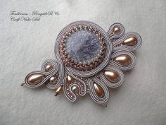 Soutache+brooch+Tenderness+by+CraftNicheDili+on+Etsy,+€45.00