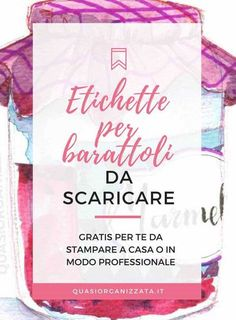 Come creare etichette per barattoli gratuite da scaricare Printable Tags, Printable Paper, Free Printables, Konmari, Party Food Labels, Create Labels, Diy And Crafts, Paper Crafts, Xmax