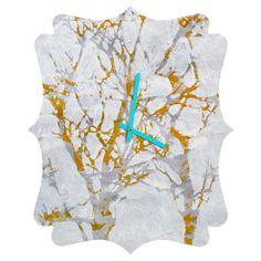 Elizabeth St Hilaire Nelson Tree 4 Quatrefoil Clock | DENY Designs Home Accessories