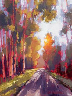 David Mensing- what a skillful rendering of light Art Painting, Fine Art, Abstract Landscape, Tree Art, Painting, Oil Painting, Art, Abstract, Landscape Art