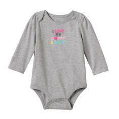 Mix and match his ensembles with this boys' Jumping Beans thermal bodysuit featuring cute graphics. Family Tees, Jumping Beans, Baby Boy, Bodysuit, Shoulder, Boys, Cute, Clothes, Shopping