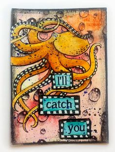 Susanne Rose - Papierkleckse: Artist Trading Cards using Designs by Ryn: Octopus