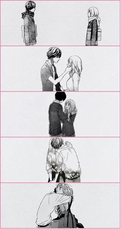 """Kou & Futaba: """"I fell in love with her courage, her sincerity, and her flaming self respect. And it's these things I'd believe in, even if the whole world indulged in wild suspicions that she wasn't all she should be. I love her and it is the beginning of everything."""" ― F. Scott Fitzgerald"""