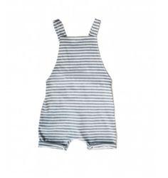 Gray Label Organic Salopette Short / Stripe