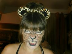 Leopard Halloween makeup. Nature inspired.