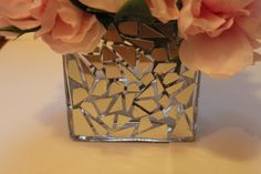 DIY mosaic vase, diy centerpiece, cd diy, cheap centerpiece