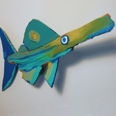 Whimsical Fish Wall Art | Whimsical Funky Fish Art Colorful Unique Painted Rustic Recycled Wood ...