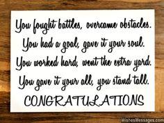 Congratulations quote for graduation achievement success or promotion