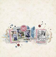Surprise_Visit (by Sharon)  Rustica kit, Lynn Grieveson, Designer Digitals