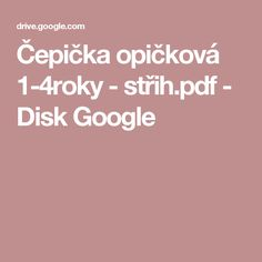 Čepička opičková 1-4roky - střih.pdf - Disk Google