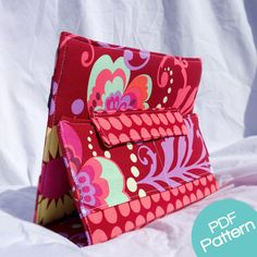 THIS LISTING IS FOR A SEWING PATTERN, NOT A PHYSICAL iPAD CASE  This digital pattern has been used to make over 250 cases, and is newly update