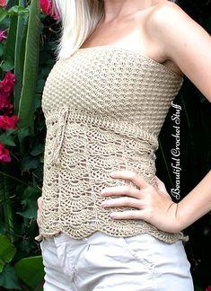 Crochet Top Pattern   Beautiful Crochet Stuff