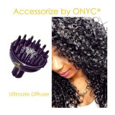 #ONYCHair has all the accessories you need for proper extension #hair care and longevity!  Use the Ultimate Diffuser™ to enhance those #Curls and everything in between!  Shop US Now>>> ONYCHair.com Shop UK Now>>> ONYCHair.uk Shop NG Now>>> ONYCHair.ng