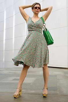 I think this style would flatter everyone, small or medium or large. I love this dress.