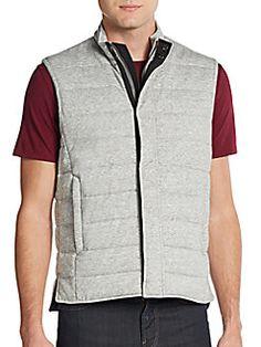VINCE Quilted Cotton Vest. #vince #cloth #vest
