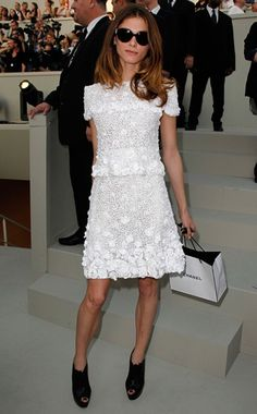 Chanel Haute Couture dress, Christian Louboutin shoes