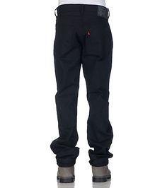 LEVI'S Denim jean Button closure Straight leg design 5 pocket detail Durable and lightwieght material for comfort Contrasting embroidery on back pockets