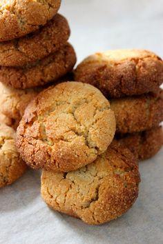 Amandelkoekjes met citroen - Foodless Paleo Cookies, Cookie Recipes, Snack Recipes, Dessert Recipes, Desserts, Healthy Cake, Healthy Sweets, Healthy Baking, No Bake Cake