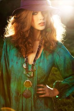 vida-exotica: (via Beautiful Enchantress Dress in Willow, … | boho, gypsy, hippie style)