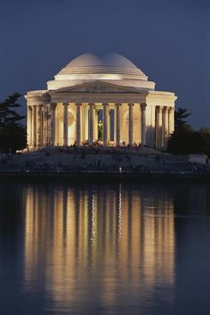 Thomas Jefferson Memorial ~ a presidential memorial in Washington, D.C. dedicated to  an American Founding Father and the third President of the United States. The neoclassical building was completed in 1943. The bronze statue of Jefferson inside was added in 1947.
